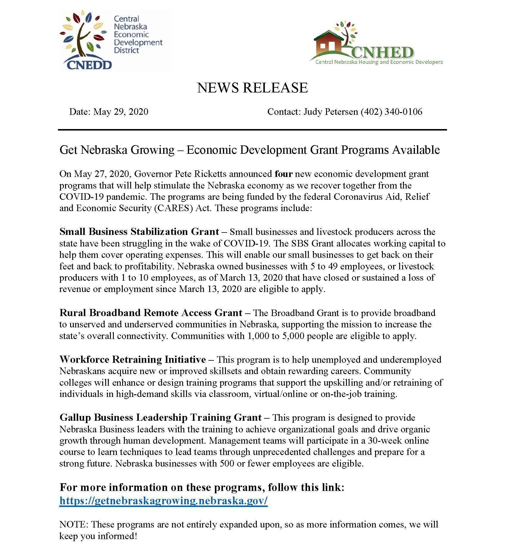 Get Nebraska Growing News Release